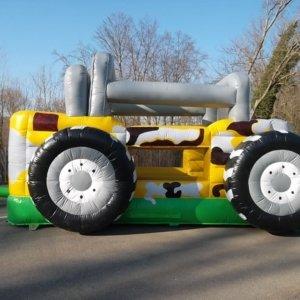 hüpfburg truck mieten